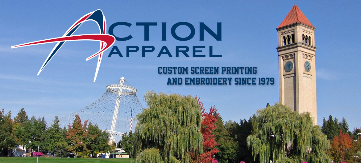 Picture of Riverfront Park with Action Apparel Logo